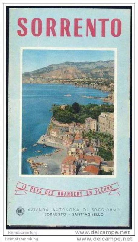 Sorrento 1958 - Faltblatt mit 8 Abbildungen - in französischer Sprache