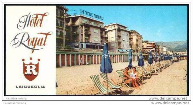 Laigueglia 70er Jahre - Hotel Royal - 8 Seiten mit 9 Abbildungen