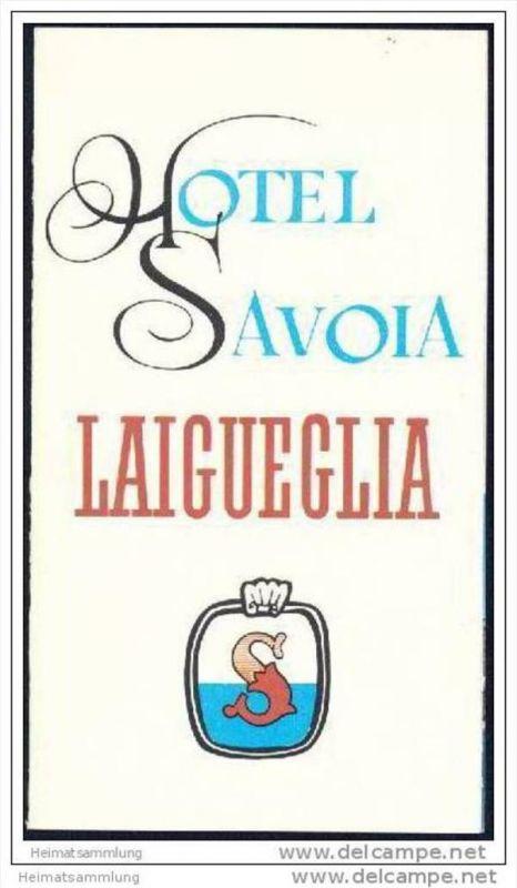 Laigueglia 70er Jahre - Hotel Savoia - Faltblatt mit 7 Abbildungen