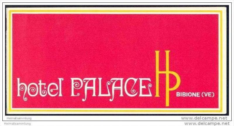 Bibione 70er Jahre - Hotel Palace - 12 Seiten mit 16 Abbildungen