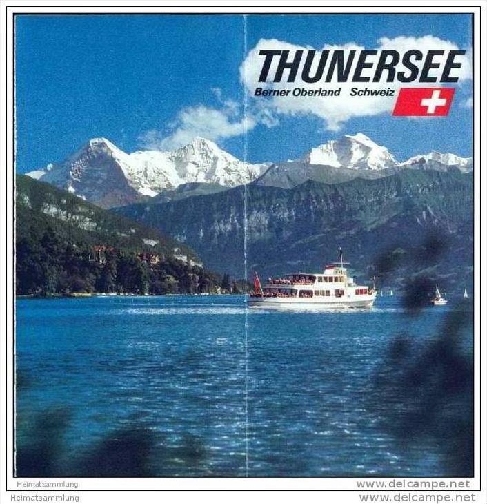 Thunersee 70er Jahre - 12 Seiten mit über 40 Abbildungen