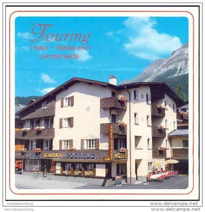 Lenzerheide - Hotel Touring - Faltblatt mit 12 Abbildungen