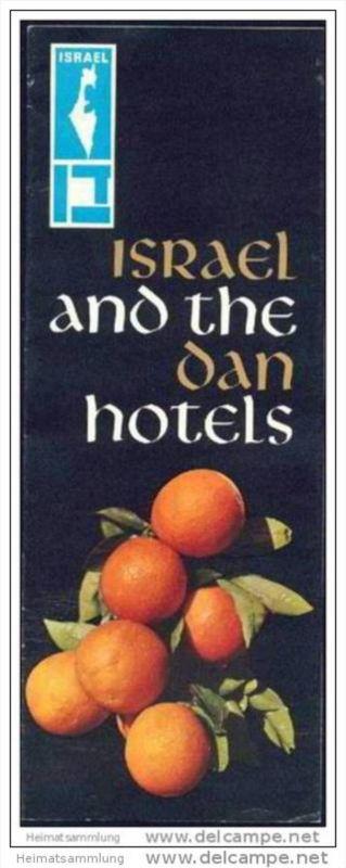 Israel and the Dan Hotels 60er Jahre - Faltblatt mit 9 Abbildungen