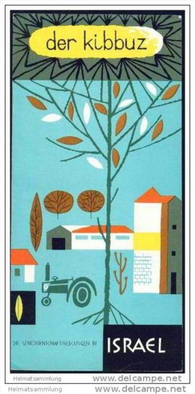 Israel 60er Jahre - Der Kibbuz - 12 Seiten mit 16 Abbildungen