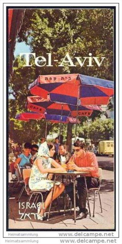 Israel - Tel Aviv 60er Jahre - Faltblatt mit 9 Abbildungen