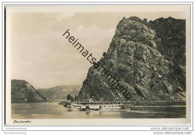 Loreley - Rheinschiff - Foto-AK 0