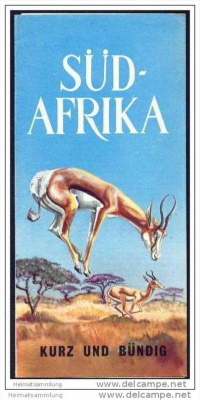 Süd-Afrika - kurz und bündig 1962 - Faltblatt mit 23 Abbildungen