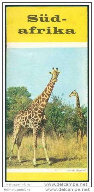 Südafrika 60er Jahre - Faltblatt mit 21 Abbildungen