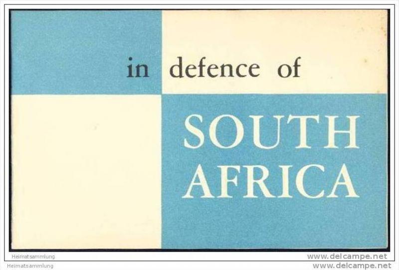 in defence of South Africa 50er Jahre  - 16 Seiten - in englischer Sprache