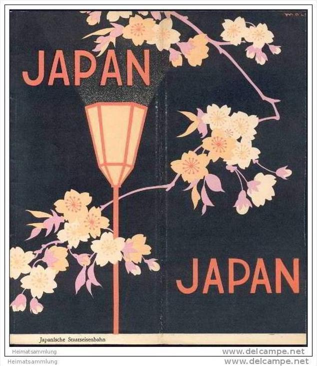 Japan 1935 - 20 Seiten mit 24 Abbildungen - Herausgeber Japanische Staatseisenbahn
