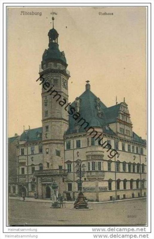 Altenburg - Rathaus - Soldatenkarte 0