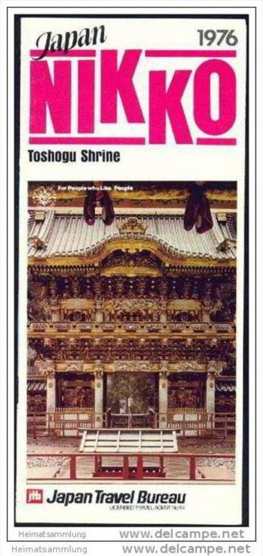 Japan 1976 - Nikko - Faltblatt mit 11 Abbildungen