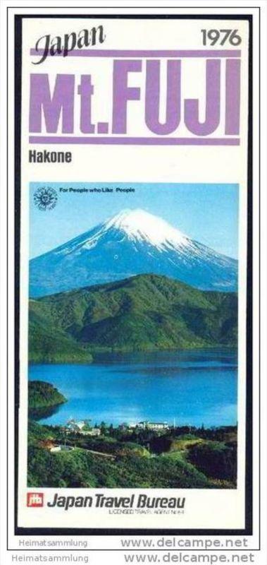 Japan 1976 - Mt. Fuji - Faltblatt mit 6 Abbildungen