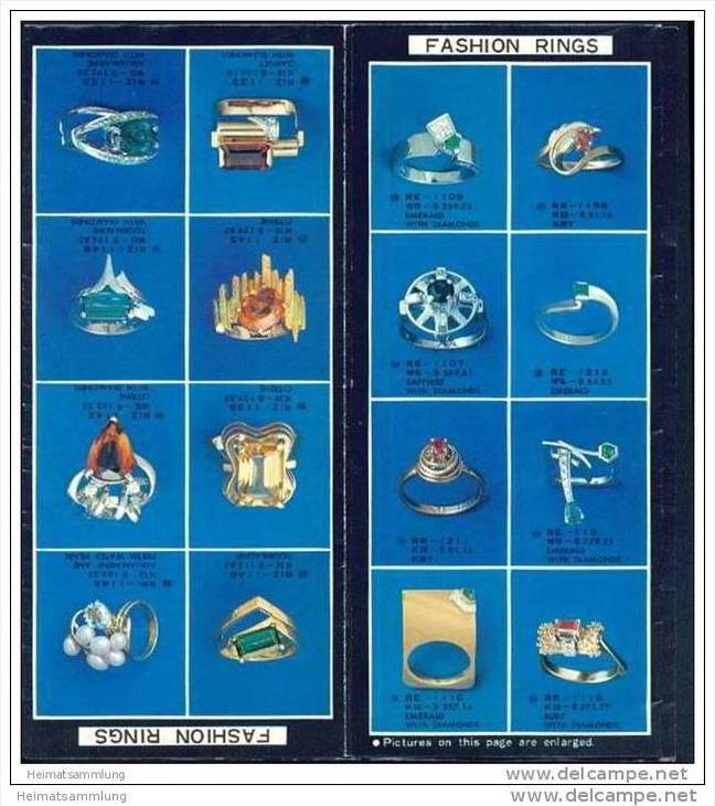 Japan 70er Jahre - Pearls and Jewelry by Tasaki - Schmuckdesigner Tasaki - Faltblatt mit vielen Abbildungen 1