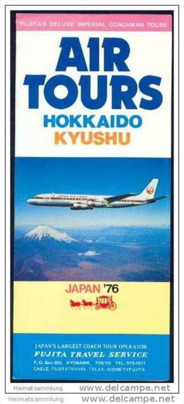 Japan - Hokkaido Kyushu 1976 - Faltblatt mit 14 Abbildungen