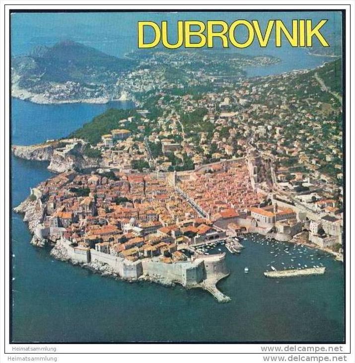 Kroatien 1978 - Dubrovnik - 20 Seiten mit über 50 Abbildungen - Reliefkarte / de Zulian