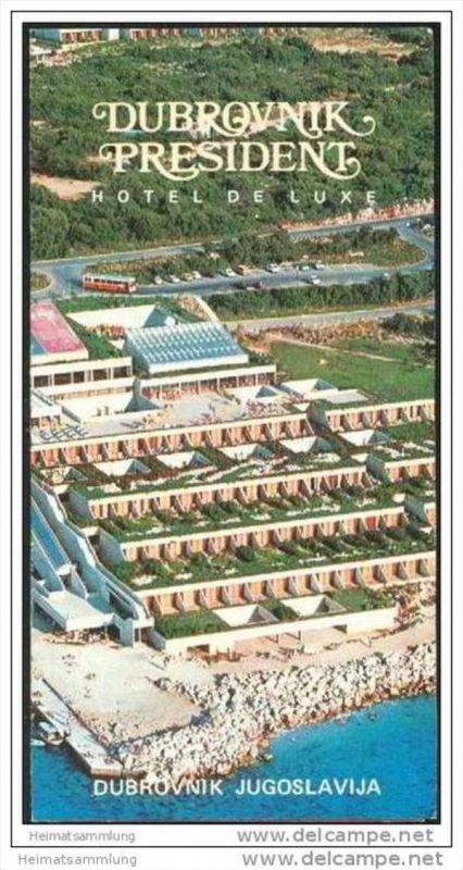 Kroatien 70er Jahre - Dubrovnik - Resident Hotel de Luxe - Faltblatt mit 12 Abbildungen 0