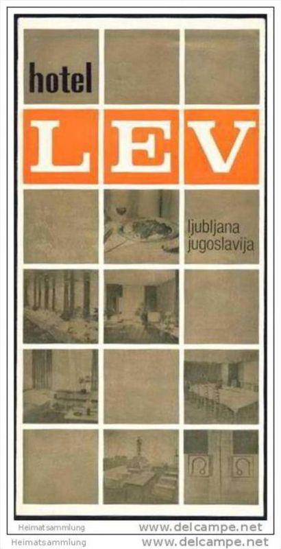 Slowenien - Ljubljana 1977 - Hotel Lev - Faltblatt mit 11 Abbildungen 0