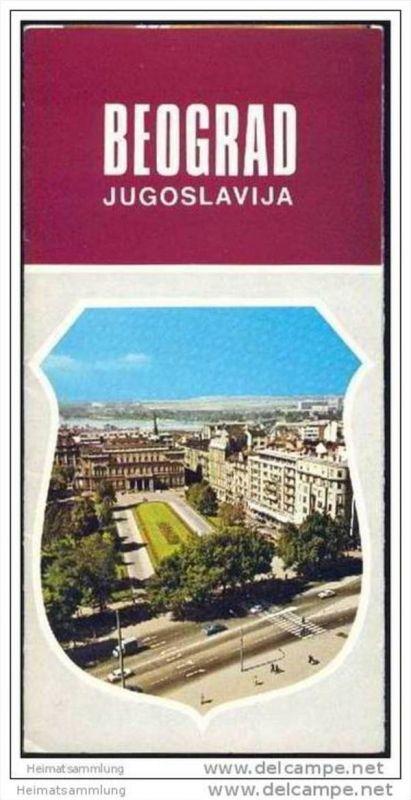 Serbien - Beograd 1974 - Faltblatt mit 17 Abbildungen