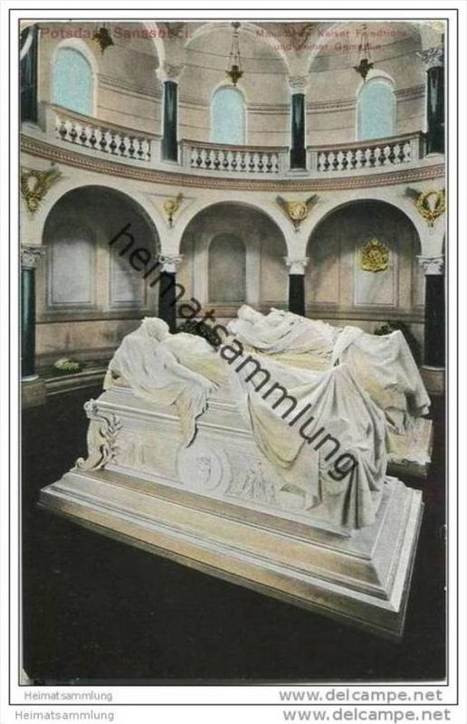 Potsdam - Sanssouci - Mausoleum - Kaiser Friedrich 30er Jahre