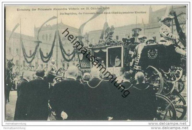 Einholung der Prinzessin-Braut - Alexandra Victoria zu Schleswig-Holstein-Sonderburg-Glücksburg 1908 0