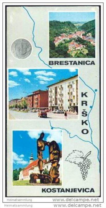 Slowenien 70er Jahre - Krsko - Brestanica - Kostanjevica - Faltblatt mit 18 Abbildungen 0