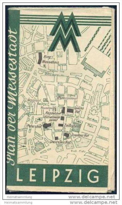 Leipzig 1947 - Plan der Messestadt - Herausgeber Leipziger Messeamt 0