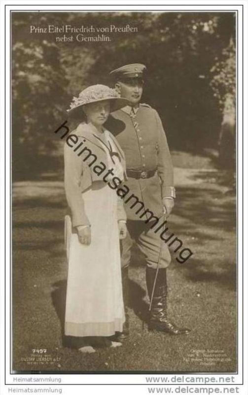 Prinz Eitel Friedrich von Preussen nebst Gemahlin - Phot. W. Niederastroth Potsdam 0