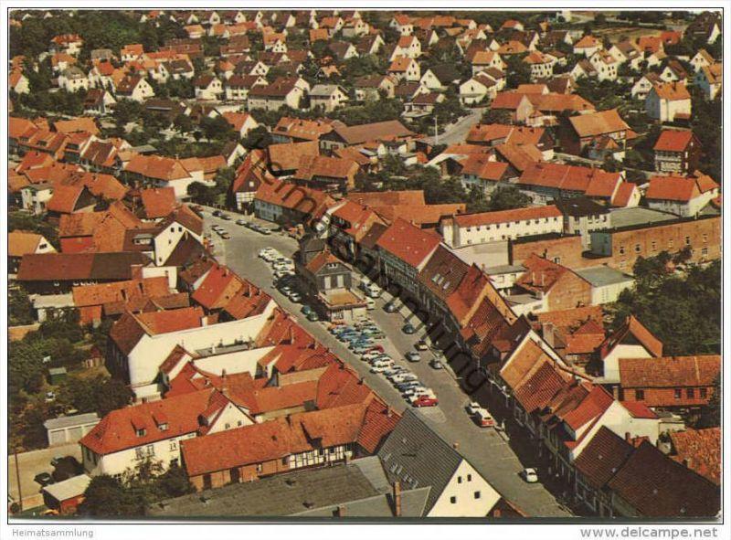Herzberg - Blick zum Markt - Luftaufnahme - AK Grossformat - Verlag Schöning & Co. Lübeck 0