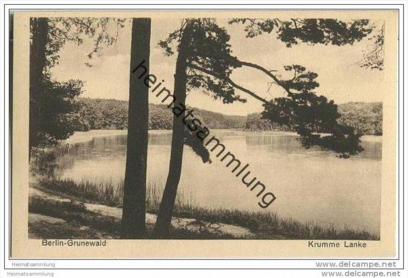 Berlin-Grunewald - Kumme Lanke - AK ca. 1930 0