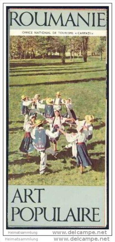 Roumanie - Art populaire 60er Jahre - Faltblatt mit 12 Abbildungen