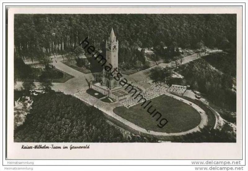 Berlin-Grunewald - Kaiser-Wilhelm-Turm - Foto-AK 50er Jahre