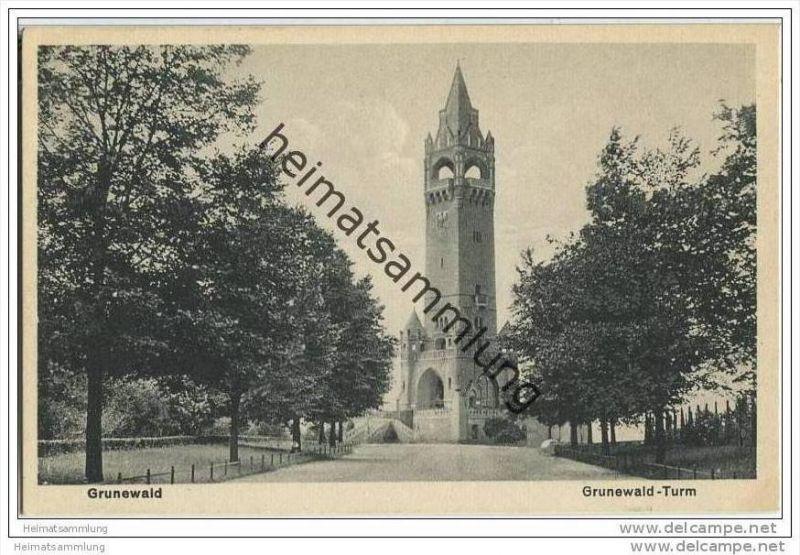 Berlin-Grunewald - Grunewald-Turm - AK 1930 0