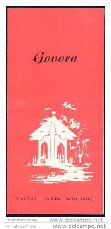 Rumania - Govora 60er Jahre - Faltblatt mit 4 Abbildungen