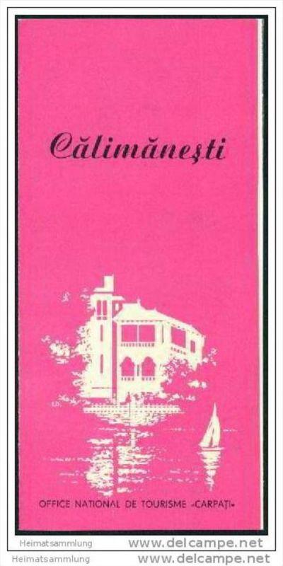 Roumanie - Calimanesti 60er Jahre - Faltblatt mit 4 Abbildungen