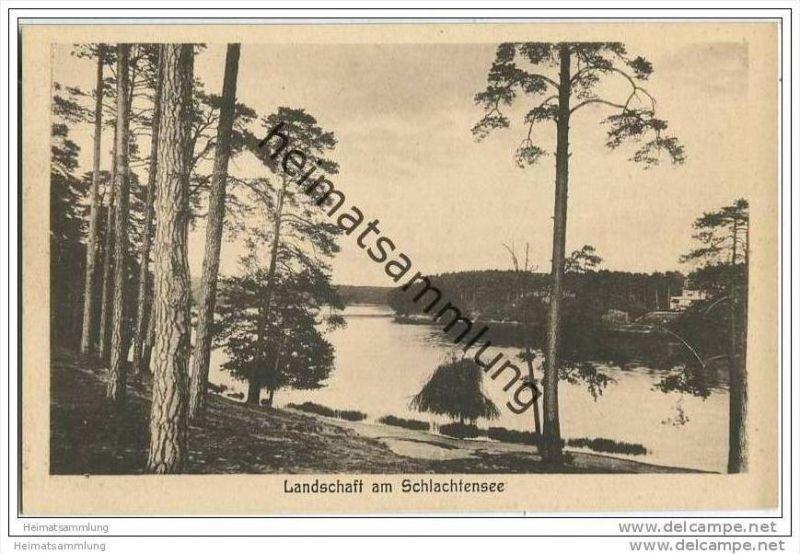 Berlin-Grunewald - Landschaft am Schlachtensee - AK ca. 1930 0