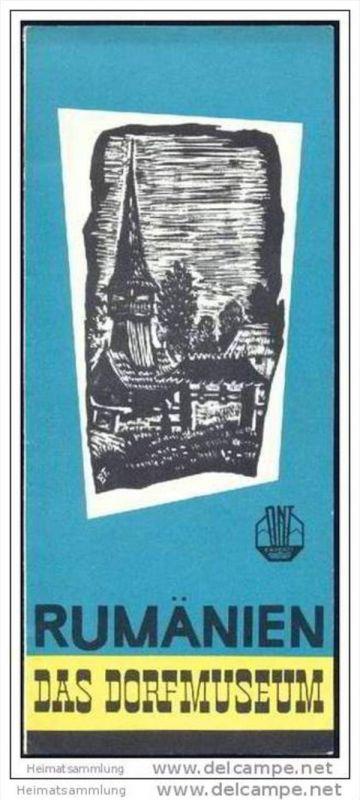 Rumänien - Das Dorf-Museum 60er Jahre - Faltblatt mit 8 Abbildungen