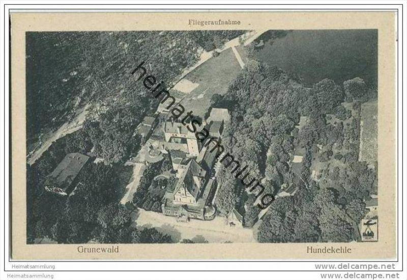 Berlin-Grunewald - Hundekehle - Fliegeraufnahme ca. 1930 0