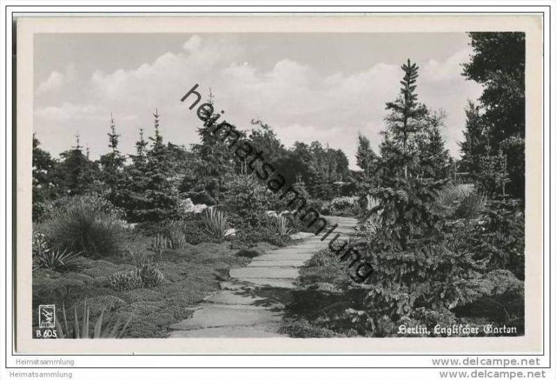 Berlin-Tiergarten - Englischer Garten - Foto-AK 50er Jahre