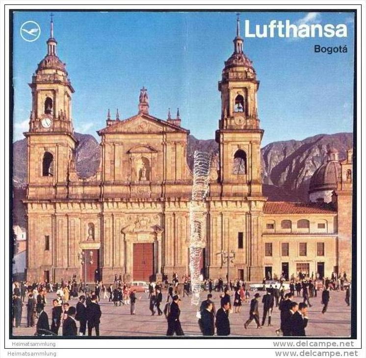 Kolumbien - Bogota 1970 - 16 Seiten mit 16 Abbildungen - Lufthansa-Ausgabe
