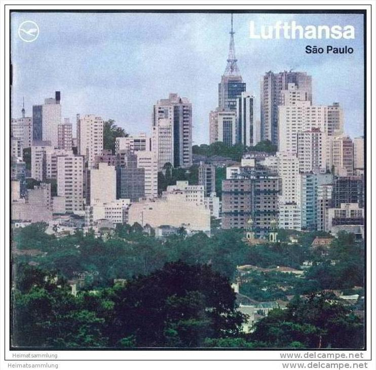 Brasilien - Sao Paulo 1970 - 16 Seiten mit 12 Abbildungen - Herausgeber deutsche Lufthansa