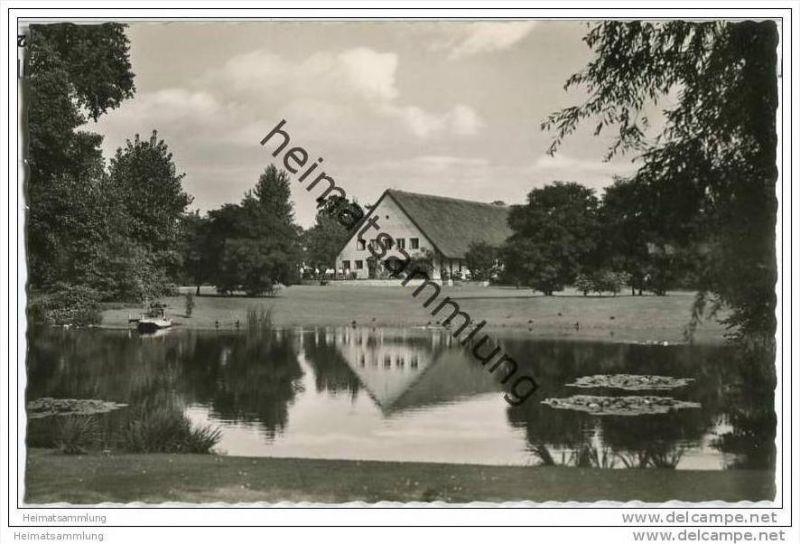 Berlin-Tiergarten - Englischer Garten - Foto-AK 50er Jahre 0