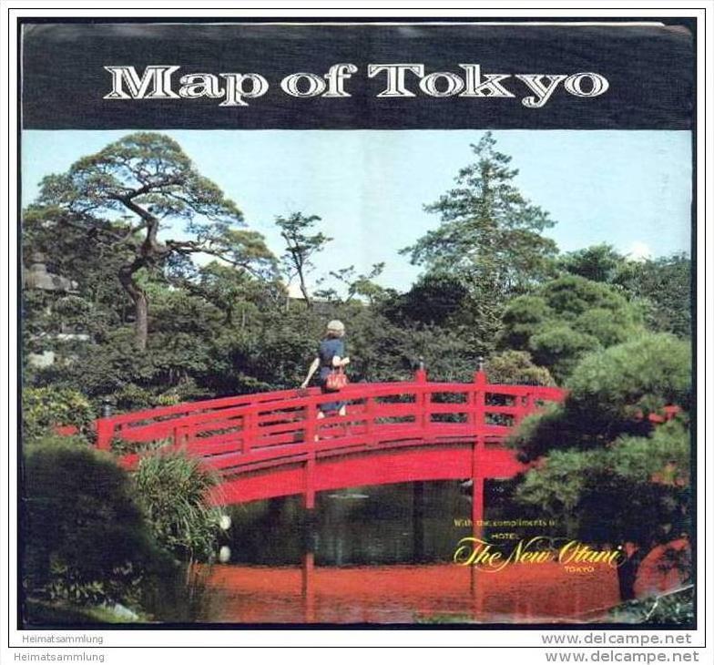 Map of Tokyo 70er Jahre - Subway Network