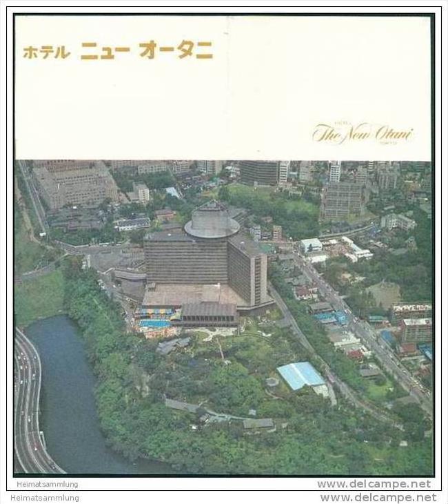 Tokyo - The New Otani Hotel 70er Jahre - 8 Seiten mit 17 Abbildungen - Map of Tokyo 0