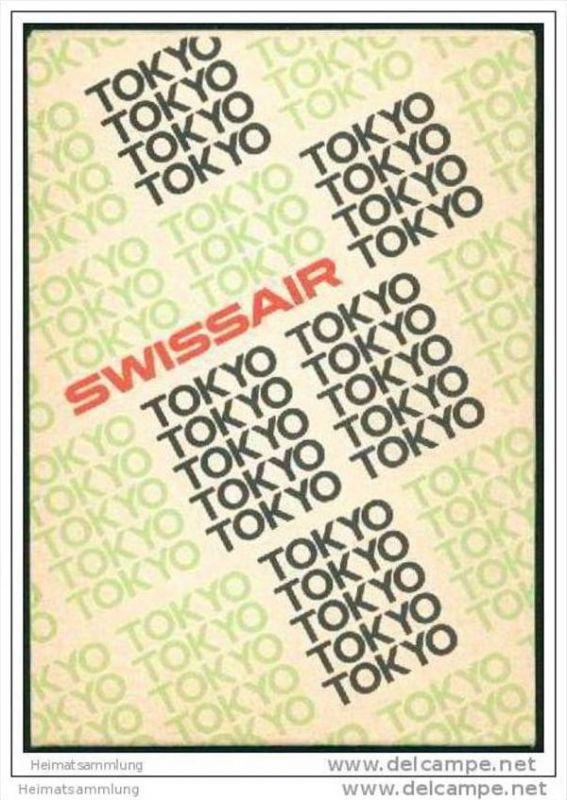 Tokyo 1971 - Faltblatt überreicht von der Swissair 0