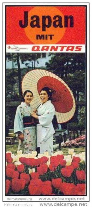 Japan mit Qantas 70er Jahre - 8 Seiten mit 20 Abbildungen