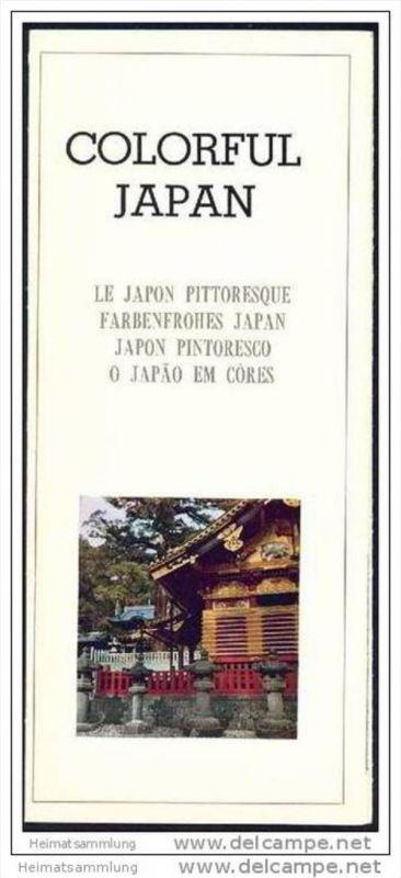 Colorful Japan 70er Jahre Faltblatt mit 22 Abbildungen - Souvenirs of Japan Faltblatt mit 26 Abbildungen - Map of Japan