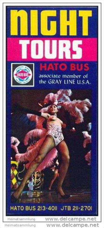 Tokyo Tours Hato Bus 70er Jahre - 8 Seiten mit 25 Abbildungen