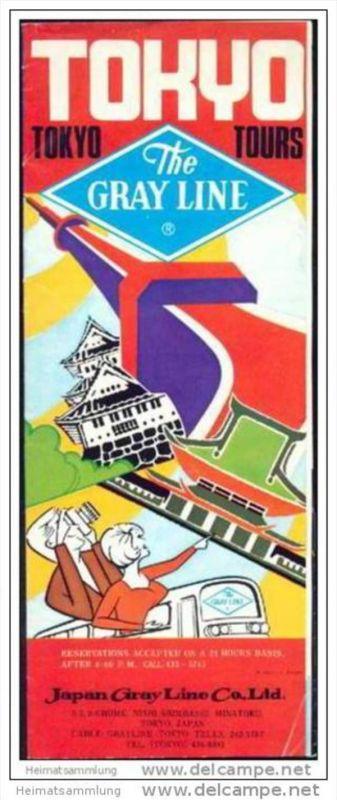 Tokyo Tours 70er Jahre - Japan Gray Line Co. Ltd. - 8 Seiten mit 25 Abbildungen