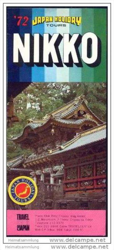 Japan Nikko 1972 - Faltblatt mit 15 Abbildungen 0